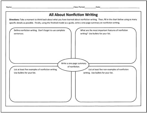 non fiction biography graphic organizer best photos of non fiction graphic organizer nonfiction