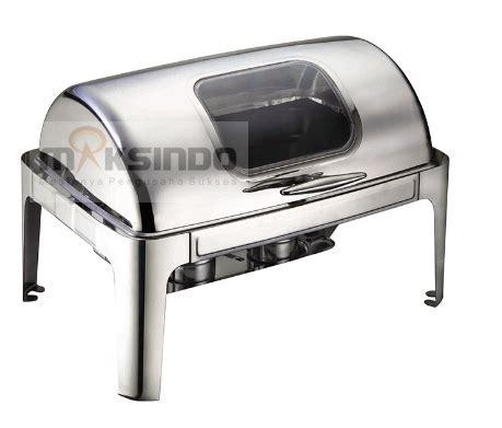 Penghangat Makanan Chafing Dish jual chafing dish oblong roll top 9 liter mkspm23 di tangerang toko mesin maksindo bsd