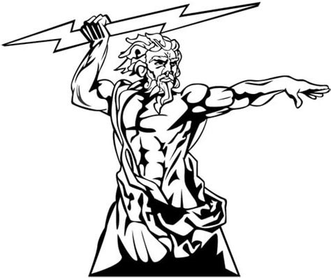 zeus the god of olympia coloring page supercoloring com