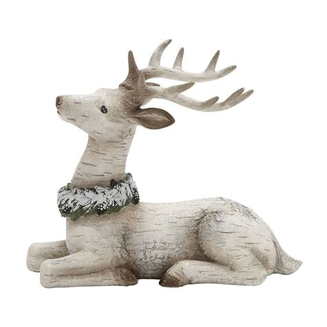 shop woodland imports resin freestanding reindeer figurine