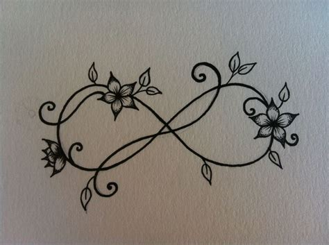 flower infinity tattoo designs 25 best ideas about infinity wrist tattoos on