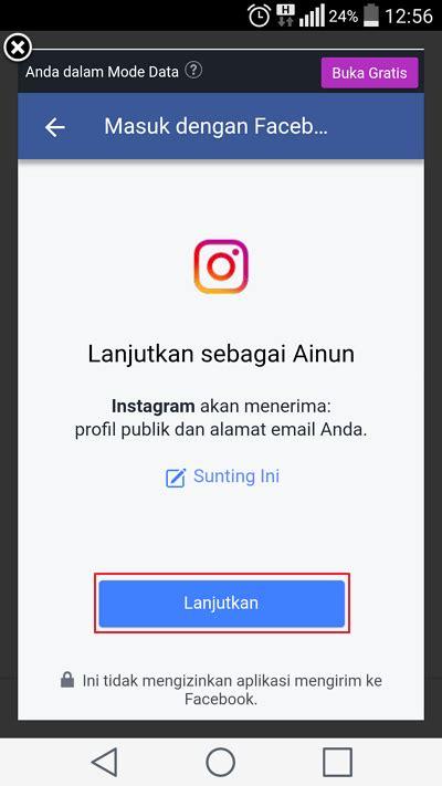 cara membuat instagram melalui facebook cara membuat instagram di hp terbaru 2018 lengkap gambar