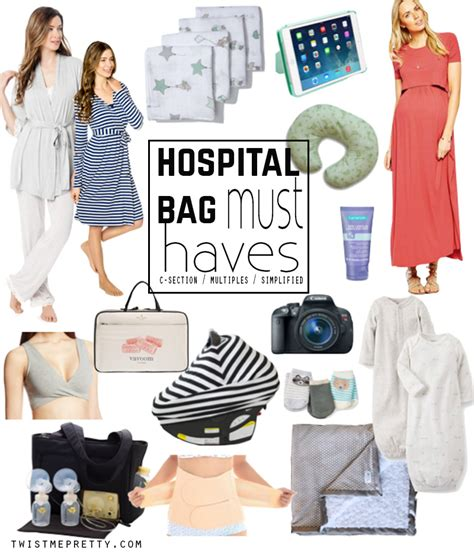 what to take to the hospital for c section hospital bag must haves twist me pretty