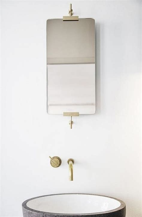 minimalist bathroom sink minimalist bathroom with aged brass wall mount faucet