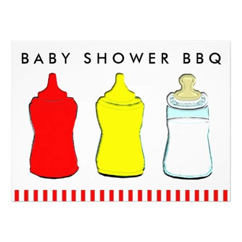 Baby Bbq Shower by Baby Shower Bbq Personalized Announcement
