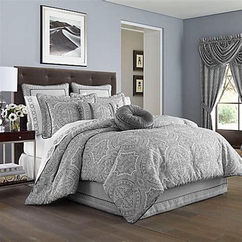 silver comforter set king buy j queen new york colette king comforter set in