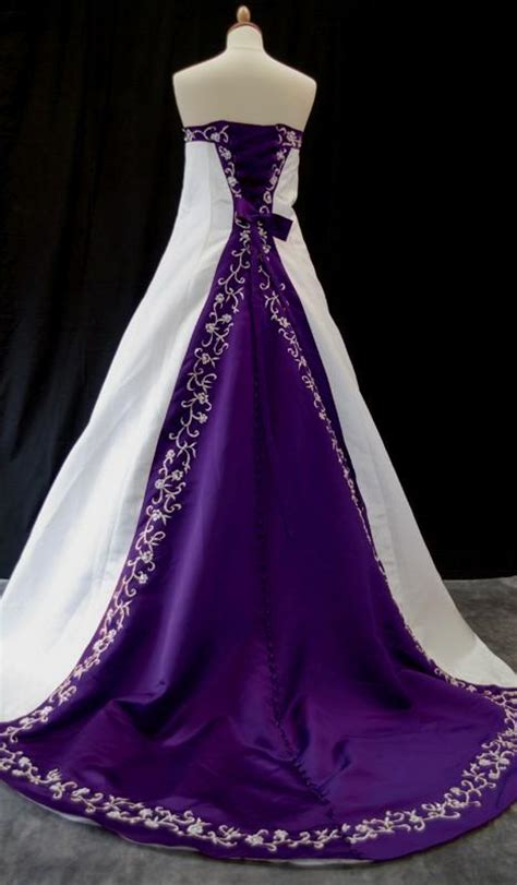 Dress Purple White black and purple and white wedding dresses naf dresses