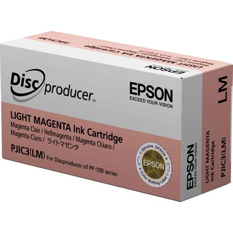 Epson 85n Ink Cartridge Light Magenta epson pjic3 lm light magenta ink cartridge pjic3 lm b h photo