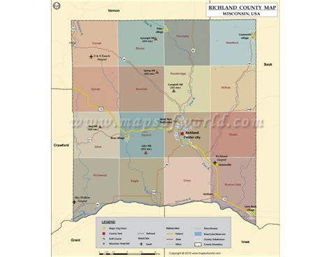 Richland County Search Buy Richland County Map