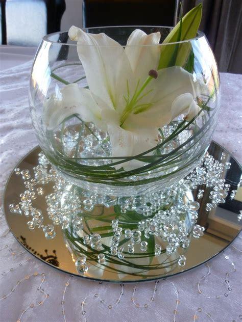 Mirror Wedding Centerpieces Centerpiece Vase With Mirror Water Pearls