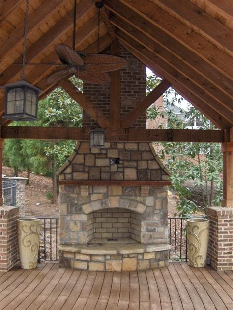 outdoor fireplaces  firepits images
