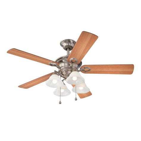 classic ceiling fans shop harbor breeze bellhaven ii 52 in vintage pewter