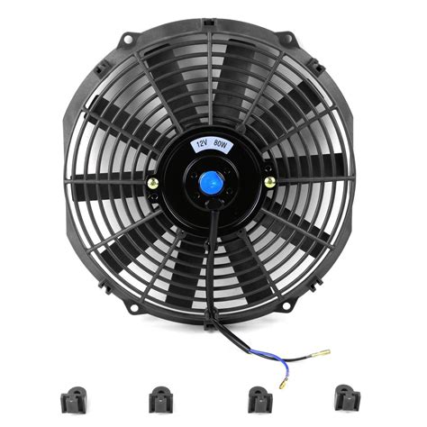 Cooling Fan Black Hi Lo 7 quot 16 quot high performance black electric radiator cooling