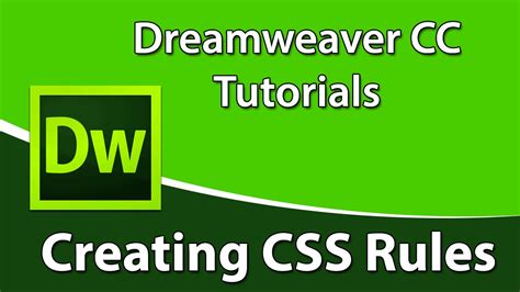 Creating Css Rules | dreamweaver cc training creating css rules using