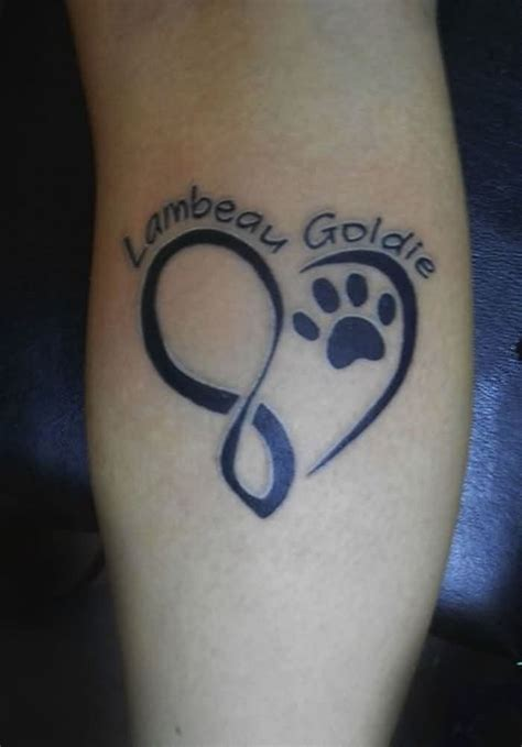 pet name tattoo ideas names and dog paw print heart tattoos tattoobite com