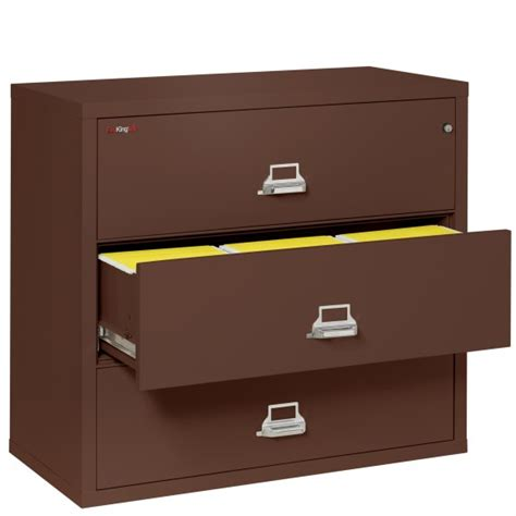 3 Drawer Lateral File Cabinets Fireking File Cabinets Fireking 3 4422 C Three Drawer 44 Quot Wide Lateral File Cabinet