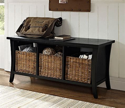 entry bench with baskets entryway storage bench with baskets