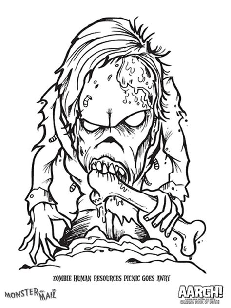 monster by mail coloring page zombie flickr photo