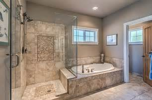Master Baths With Walk In Showers Gorgeous Master Bath Extra Large Walk In Shower Glass