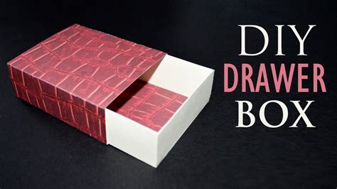 How To Make A Drawer Box Out Of Paper - how to make a paper box diy sliding gift box