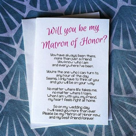 bridal shower gifts from matron of honor will you be my matron of honor poem matron of by teamocharlie bachelorette bridal