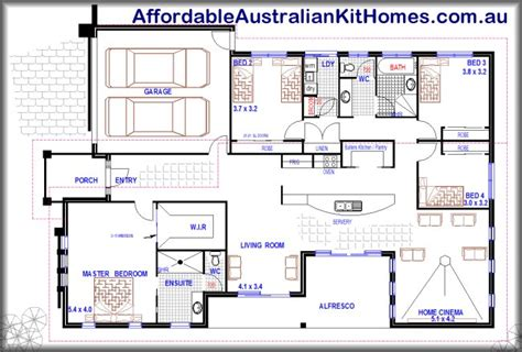 4 Bedroom Floor Plans One Story Australia You Will This One 4 Bedroom House Plan