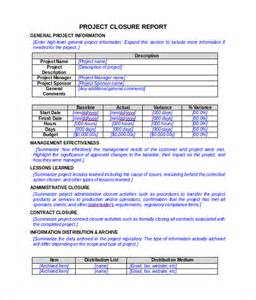 Project Closure Report Template   8  Documents in PDF, Word