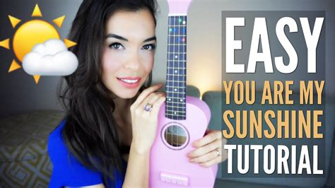 fingerstyle tutorial you are my sunshine easy you are my sunshine tutorial for ukulele with free