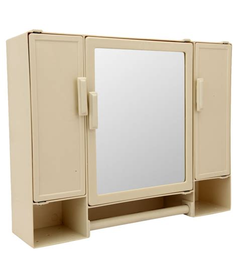 bathroom mirrors online shopping india zahab beige plastic mirror cabinet rs 1 199 snapdeal
