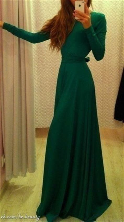 Get A Tone Green Dress Like Garners From Appearance On Letterman by Dress Green Maxi Dress Forest Green Coat Green