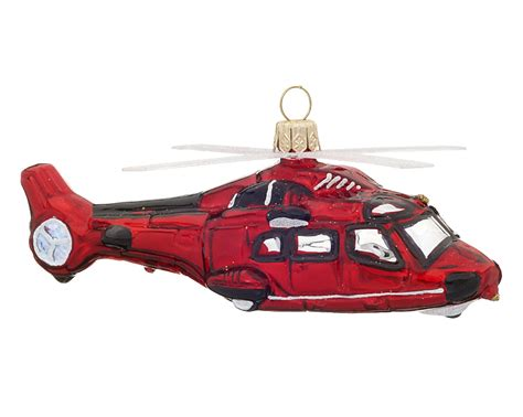 helicopter christmas ornament transportation