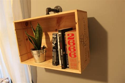 Wine Box Shelf by Pin By Simplified Building On Industrial Pipe Shelves