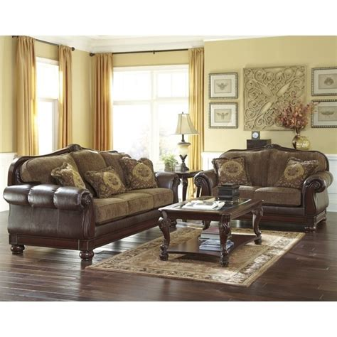ashley leather sofa sets ashley beamerton heights 2 piece faux leather sofa set in