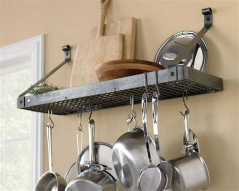 Shelf To Hang Pots And Pans 21 Clever Ways To Maximize Kitchen Cabinet Storage
