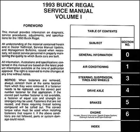 how to download repair manuals 2003 buick regal auto manual 1993 buick regal repair shop manual original 2 volume set