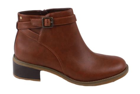 rockport kirtland womens brown leather low stacked heel