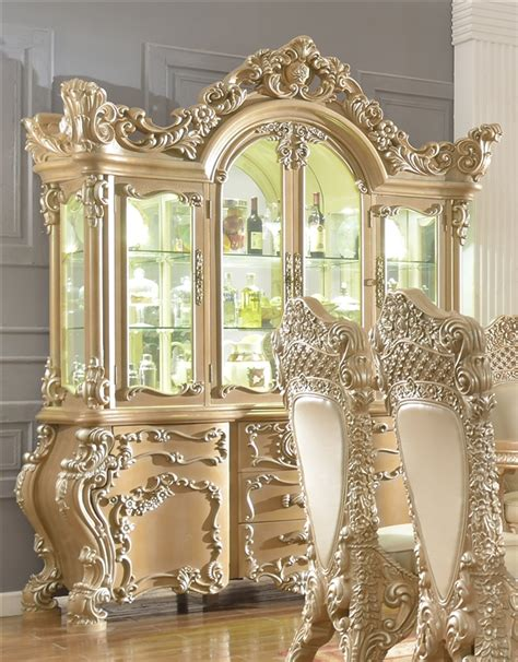imperial ornately carved china cabinet  homey design
