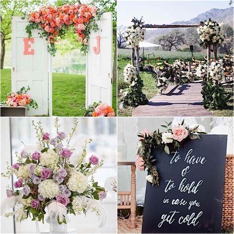 Garden Ceremony Ideas Garden Wedding Collage 091815mc