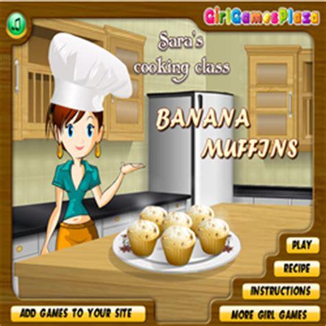 games membuat kue ulang tahun sara game memasak kue muffin pisang gamemasak com permainan