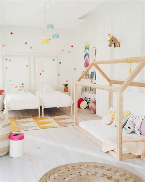 girls double bed fresh and fun girl s room with double beds house design