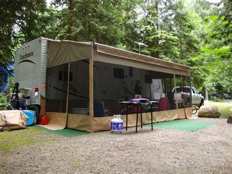 travel trailer awning screen room best 25 cer awnings ideas on pinterest pop up awning