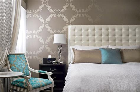turquoise bedroom wallpaper laura adkin interiors a luxurious bedroom on a budget