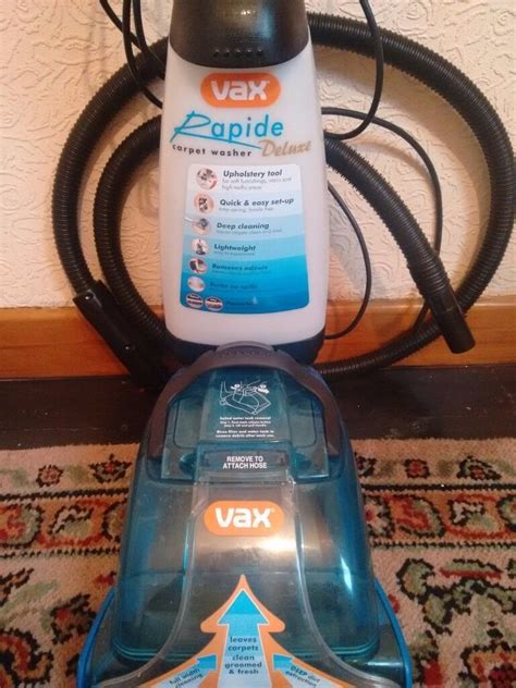 Vax V 026rd Rapide Deluxe Upright Carpet And Upholstery Washer Vax V 026rd Rapide Deluxe Upright Carpet And Upholstery
