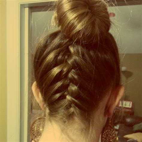 how to put braids into a bun upside down french braid into bun fashion s my life
