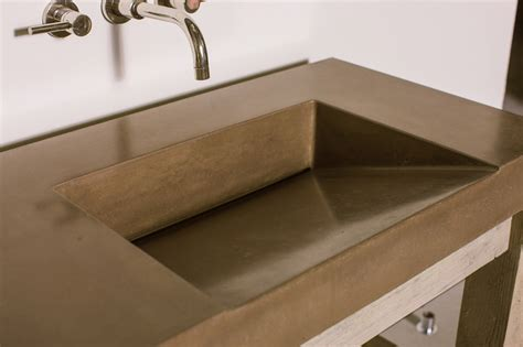 how to a cement sink gradient sink concrete wave design concrete