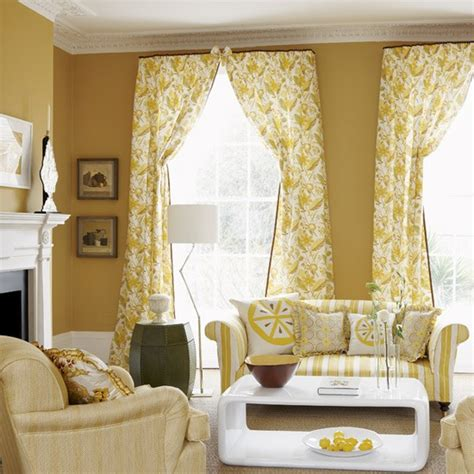 yellow curtains for living room mellow yellow living room living rooms decorating