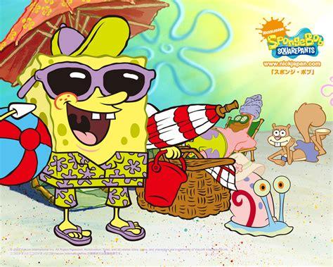 spongebob squarepants images summer hd wallpaper and