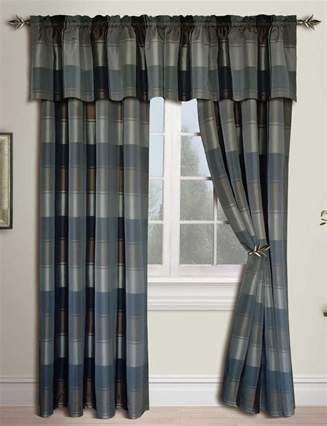 blue and green plaid curtains plaid panels blue green united curtain draperies