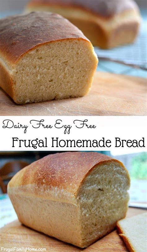 frugal bread recipe dairy free egg free