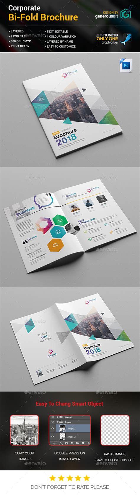 bi fold brochure template by generousart graphicriver